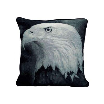 Eagle photo polyester jacquard cushion