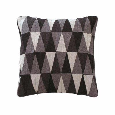 Triangle mix wool applique cushion