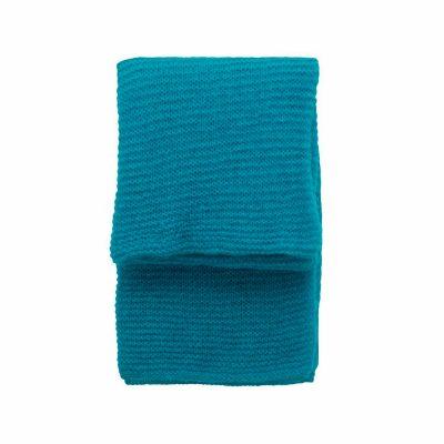 sara turquoise woven throw
