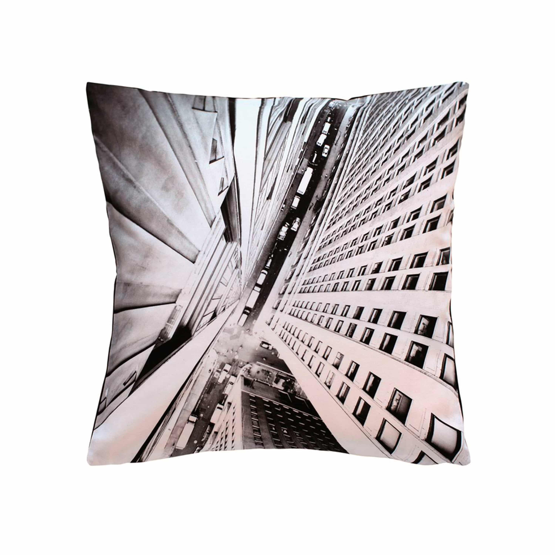 Vertical City Cotton Printed Cushion