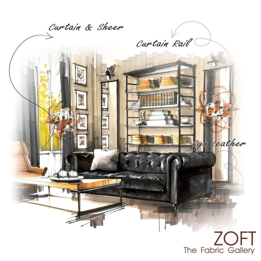 ผ้าม่าน ม่านโปร่ง ผ้าบุโซฟา ZOFT The Fabric Gallery - Cover Image